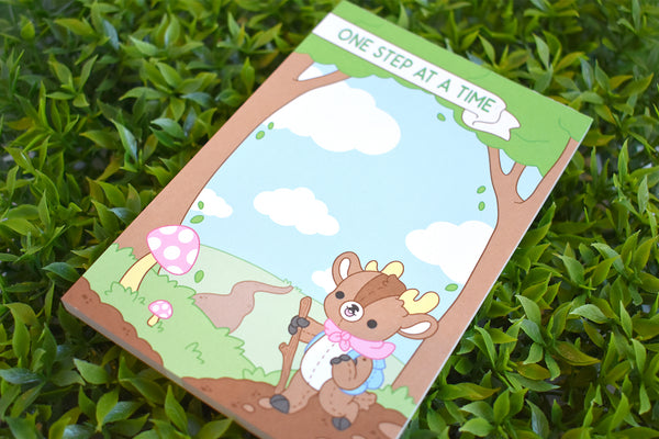 One Step At A Time Deer Notepad