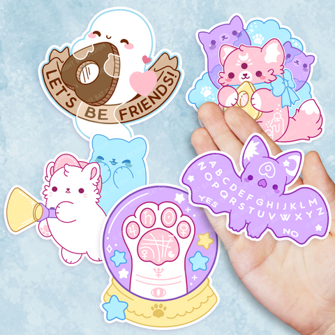 Paranormal Nuggets (Pastel) Vinyl Sticker Set
