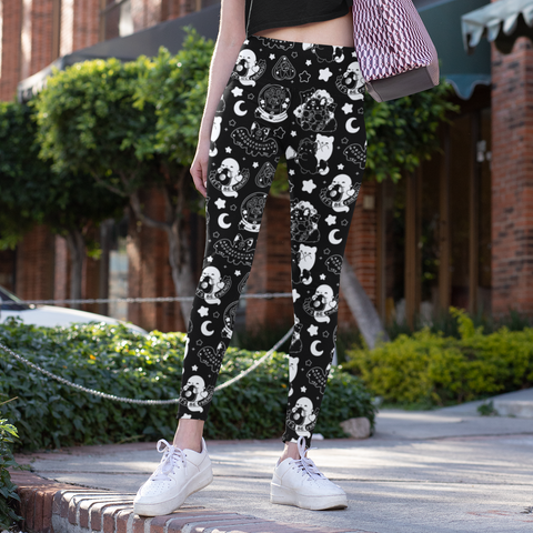 Black Paranormal Nuggets Leggings