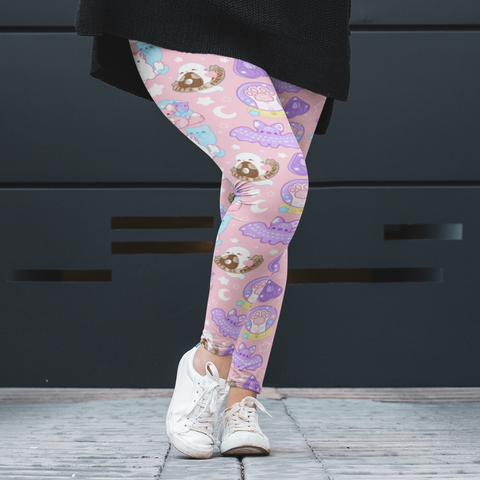 Pastel Paranormal Nuggets Plus Size Leggings