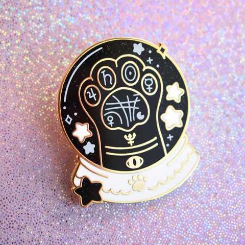 Paw Reading (Black) Enamel Pin