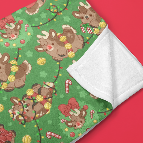 Reindeer Nuggets Throw Blanket