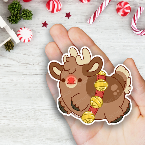 Rudolph the Reindeer Vinyl Sticker
