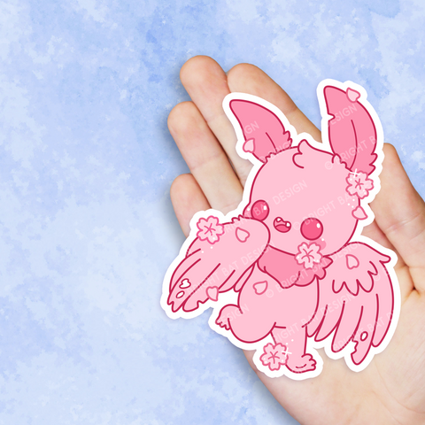 Sakura Mothman Vinyl Sticker