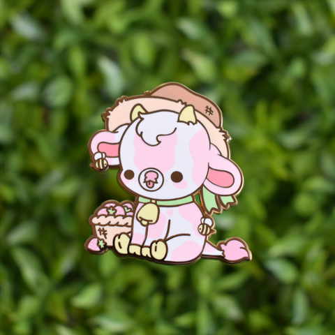 MINI Strawberry Cow Enamel Pin