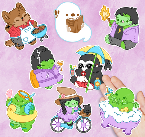 Vacation Monster Vinyl Sticker Set