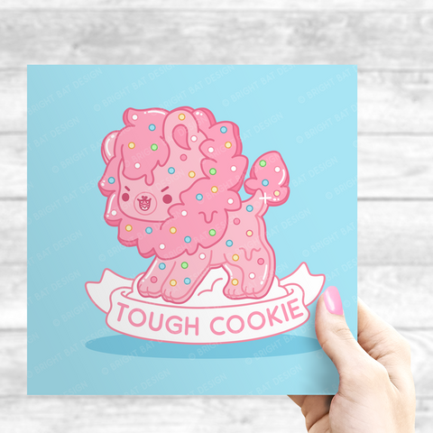 Tough Cookie Lion Print