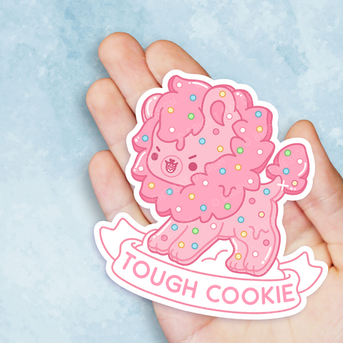 Tough Cookie Lion Vinyl Sticker