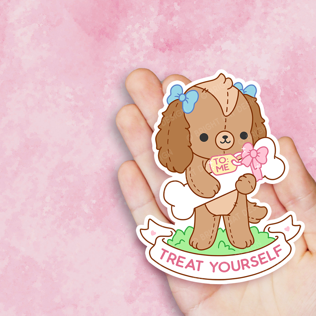 Treat Yourself Dog Vinyl Sticker