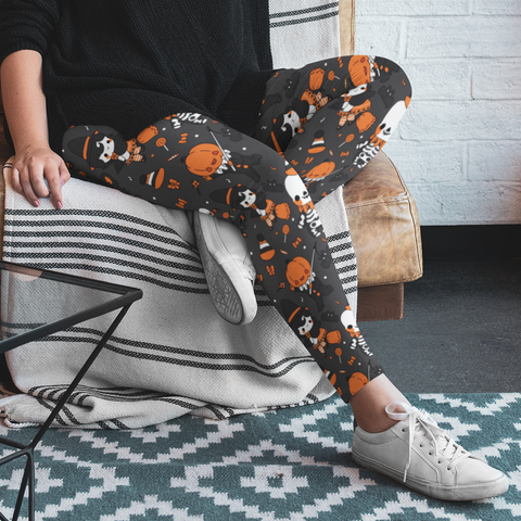 Vintage Halloween Plus Size Leggings