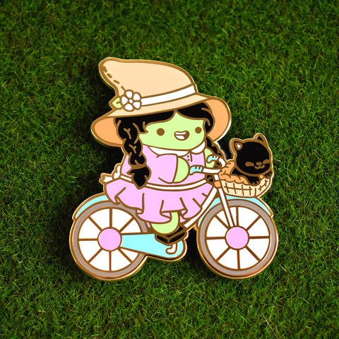 Biking Witch Enamel Pin