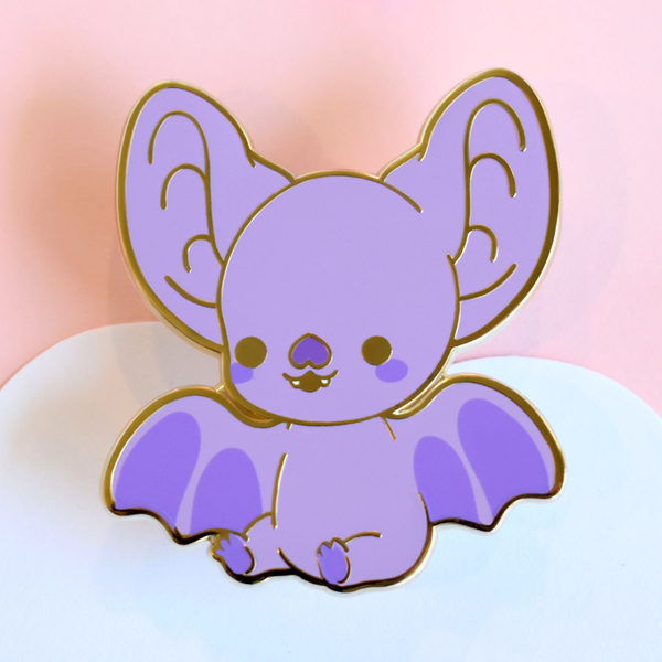 Bright Bat Mascot Enamel Pin