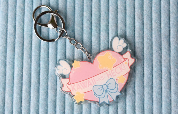 Kawaii as Heck Charm Keychain