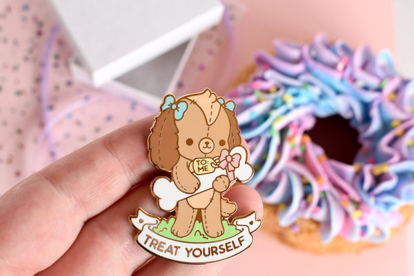 Treat Yourself Dog Enamel Pin