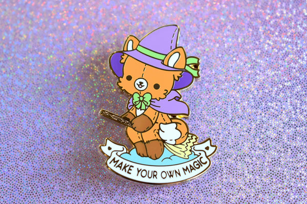 Make Your Own Magic Fox Witch Enamel Pin