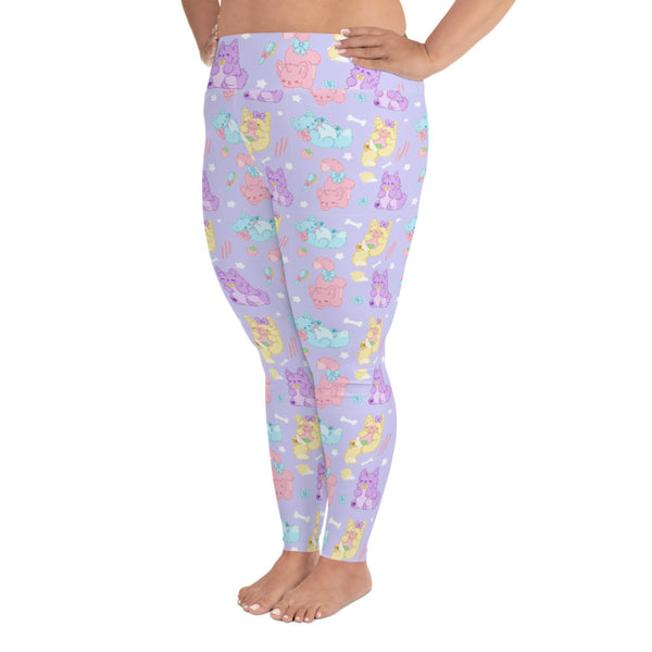 Pastel Werewolves Plus Size Leggings