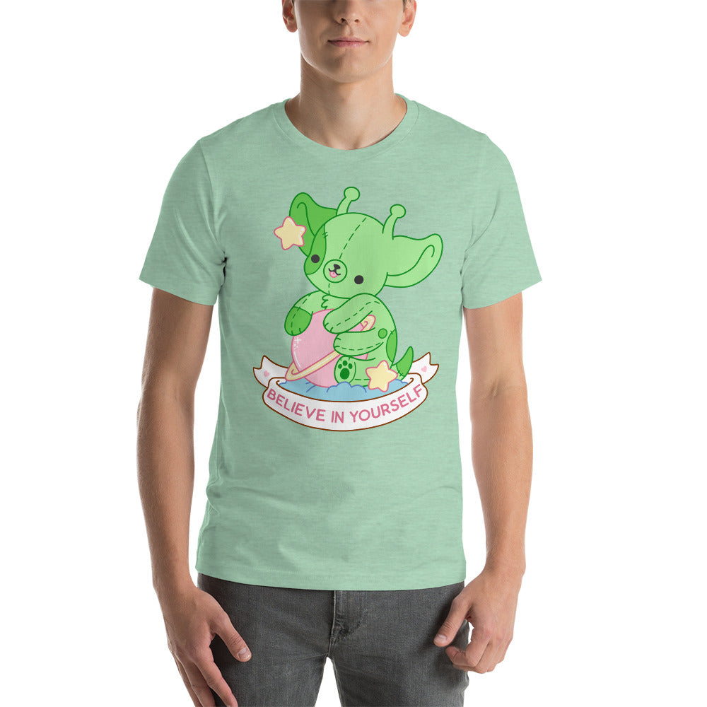 Believe in Yourself Alien Dog TShirt