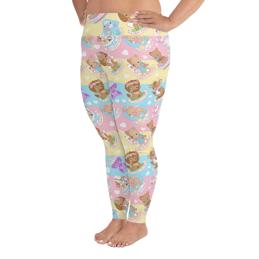 Self Care Plushie Pals Plus Size Leggings