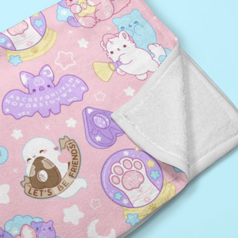 Paranormal Nuggets (Pastel) Throw Blanket