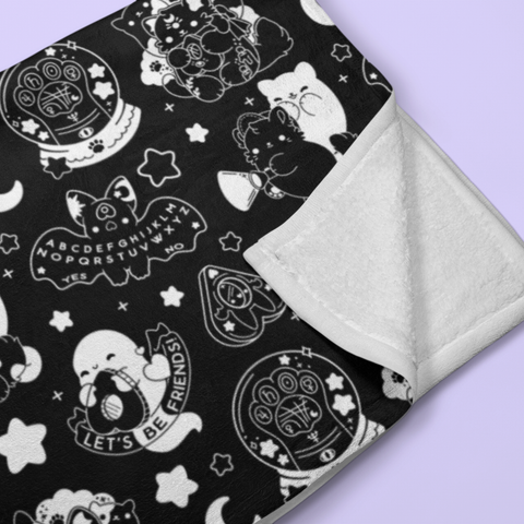 Paranormal Nuggets (Black) Throw Blanket