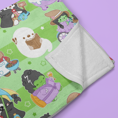 Vacation Monsters Throw Blanket