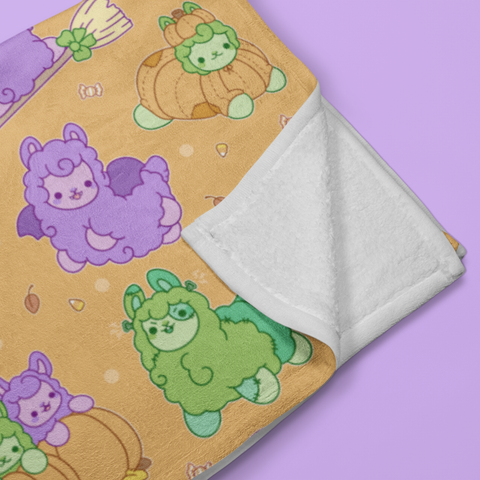Halloween Alpacas Throw Blanket
