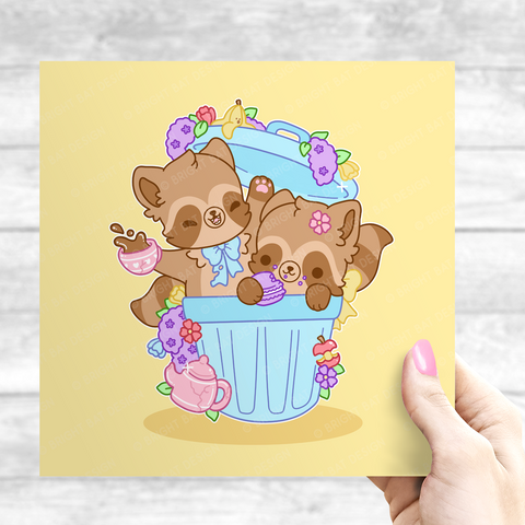 Trash Can Tea Party Print