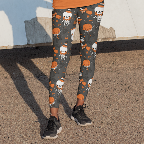 Vintage Halloween Kids Leggings