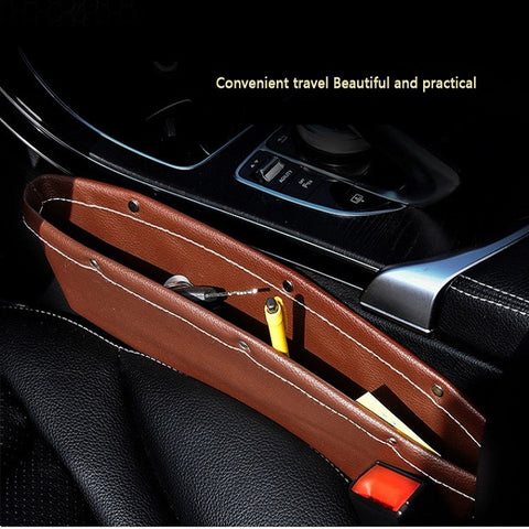 Car Accessory Storage Leather Pocket