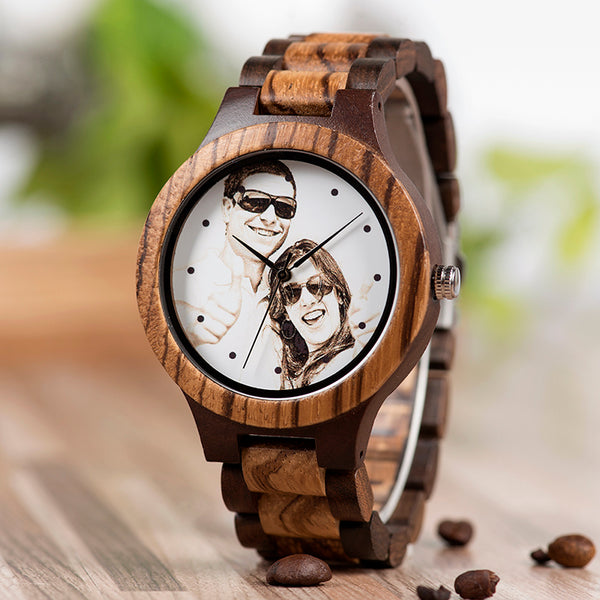 The Personalized Customize Photo Bamboo Watch