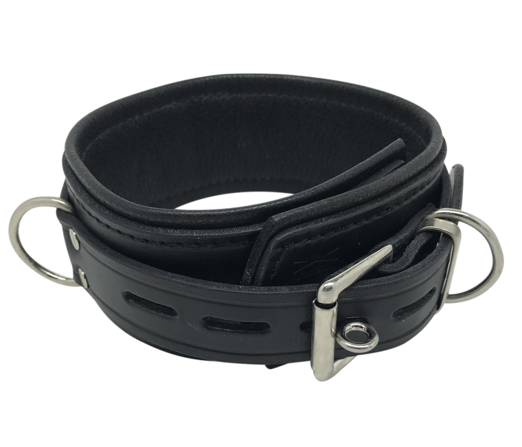 Deluxe Lockable Leather Collar