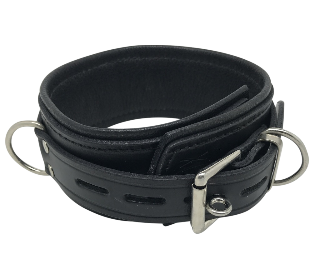 Sax Leather Deluxe Lockable Leather Collar
