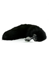 Crystal Minx Detachable Faux Black Fox Tail Plug