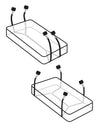 Wrap-Around Mattress Restraints