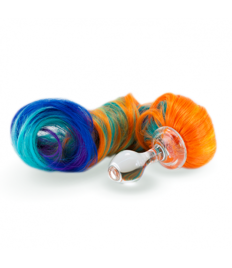 Primary 5 Colour Crystal Minx Detachable Faux Pony Tail Plug