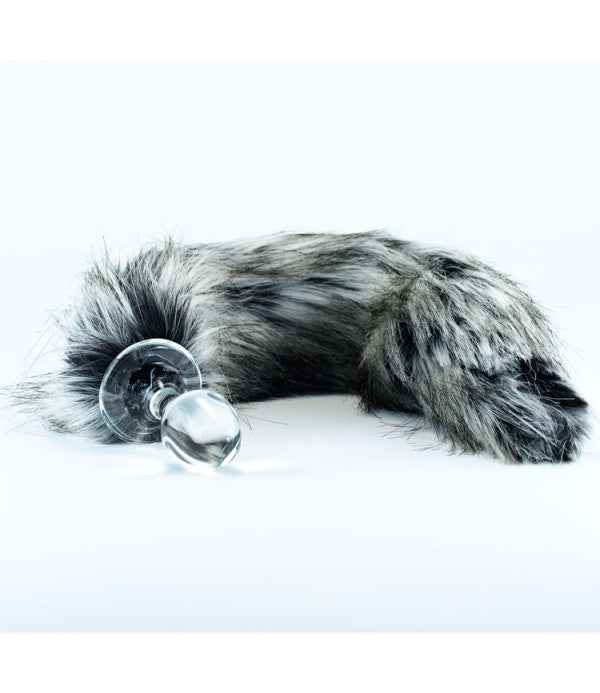 Crystal Minx Detachable Faux Tundra Wolf Tail Plug