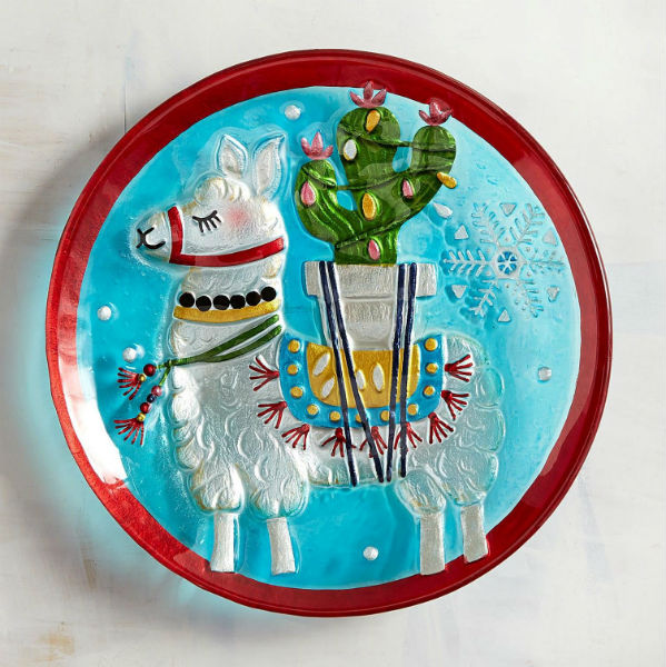 Where To Find It - dinnerware Christmas Lama from Pier 1