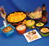 Halloween party food with seasonal ale and wine