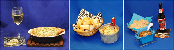 Hot Dips:  Artichoke, Spinach & Artichoke, Baked White Cheddar Horseradish & Beef