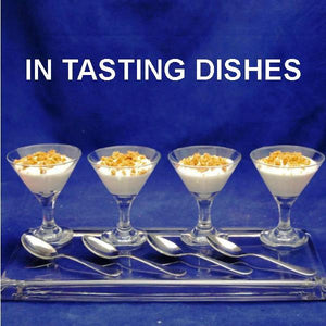 Apple Rum Raisin Mousse with cookie crumb garnish, in mini-martini glasses