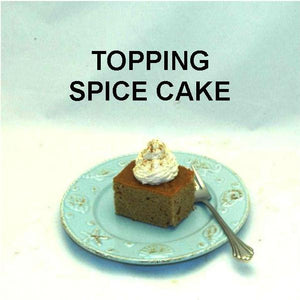 Apple Rum Raisin Mousse topping spice cake Summer