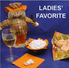 Load image into Gallery viewer, Cold Artichoke Dip on crackers with white wine Fall