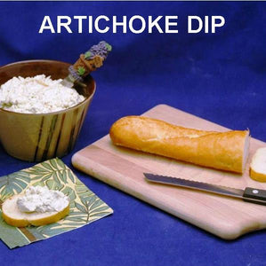 Cold Artichoke Dip on Baguette