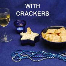 Load image into Gallery viewer, Cold Artichoke Dip with Crackers and white wine Hannukah