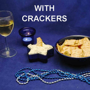 Cold Artichoke Dip with Crackers and white wine Hannukah