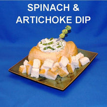 Load image into Gallery viewer, Cold Artichoke Spinach Dip in boule