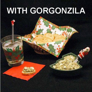 Artichoke Tapende with Gorgonzola Cheese, served with a bourbon cocktail Christmas