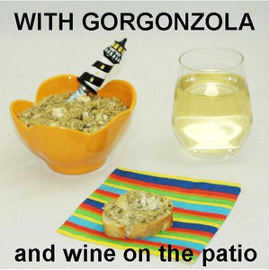 Artichoke Tapende with Gorgonzola Cheese with white wine Summer