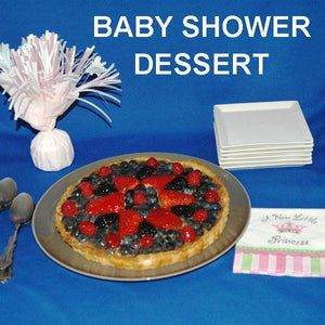 Baby Shower Dessert, Raspberry Chocolate Mixed Berry Tart