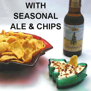 Bacon Praline Dip with Chips Christmas